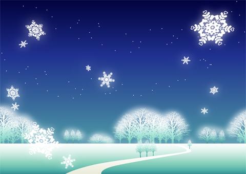 雪の降る夜 雪の降る夜 - イラスト - 彩BOX.com 彩BOX.com 写真・クリップアー